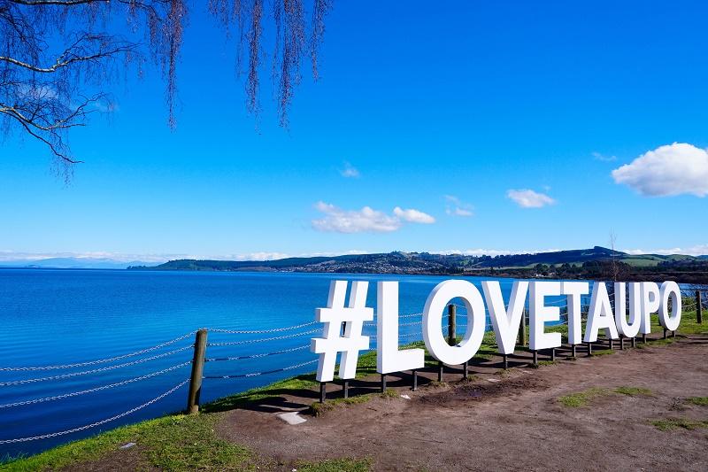 【紐西蘭NZ旅遊】北島陶波Taupo,紐西蘭最大面積湖泊
