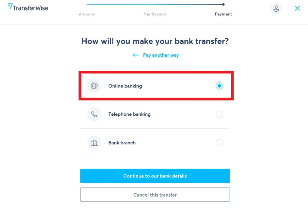 how will you make your bank transfer