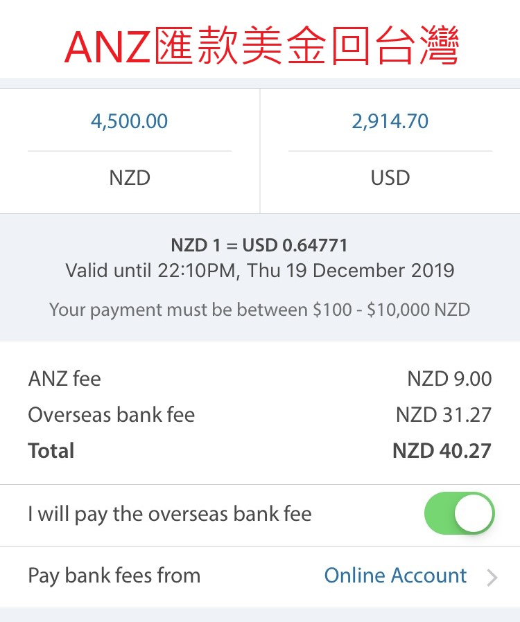 Send money back to Taiwan -1