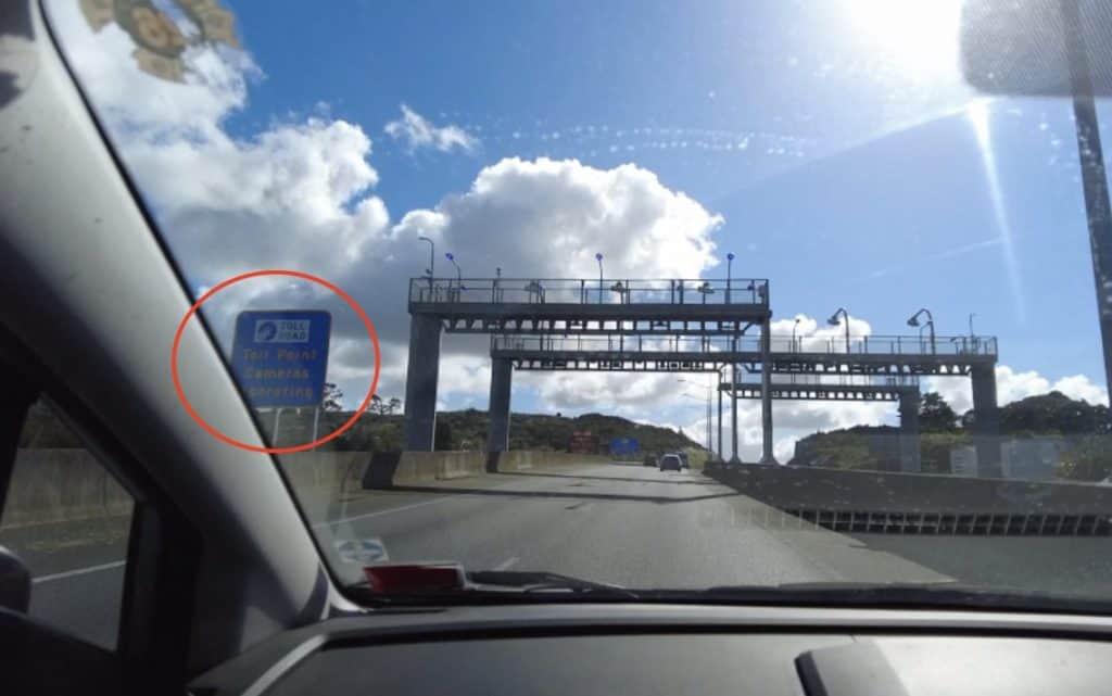 toll road notice board