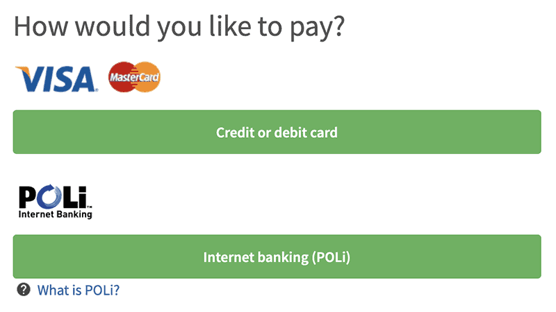 choose the way to pay